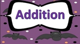Double Digit Addition Task Cards Halloween Theme
