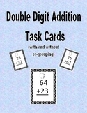 Double Digit Addition Task Cards (with and without regrouping)