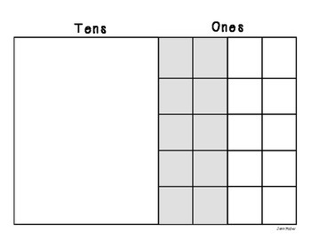 Double Digit Addition: Tens and Ones Work Mat