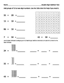 Double Digit Addition Test