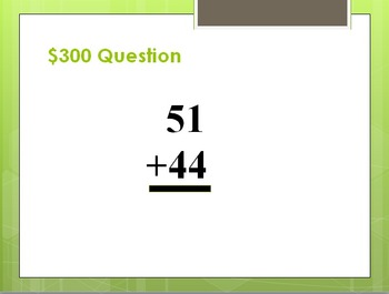 Double Digit Addition Trivia Game