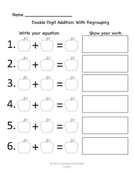Double Digit Addition: With Regrouping