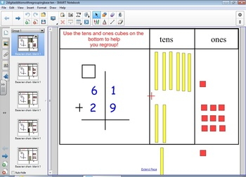 Double Digit Addition With Regrouping Interactive Base Ten