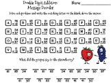 Double Digit Addition With Regrouping Christmas Math Activity: Message Decoder