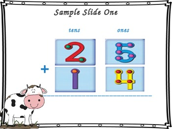 Double Digit Addition (Horizontal Problems - With and With