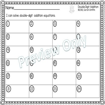 Double Digit Addition Without Regrouping ~ Camping  Math Center ~ Task Cards