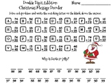 Double Digit Addition Without Regrouping Christmas Math Activity