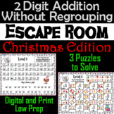 Double Digit Addition Without Regrouping Game: Christmas Escape Room Math