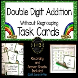 Double Digit Addition Without Regrouping ~ St. Patrick's Day ~ Task Cards