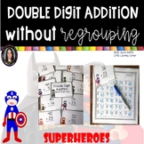 Double Digit Addition Without Regrouping ~ Superheroes Mat