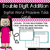 Double Digit Addition Without Regrouping Word Problem DIGITAL Task Cards