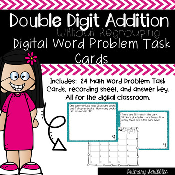 Double Digit Addition Without Regrouping Word Problem DIGI