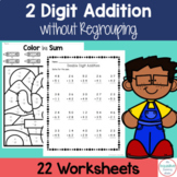 Double Digit Addition Without Regrouping Worksheets