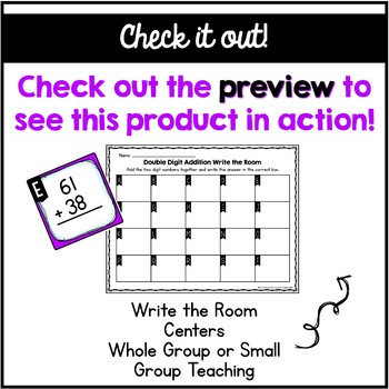 Double Digit Addition Write the Room (Without Regrouping)