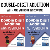 Adding Double Digit Addition Worksheets With Answer Keys