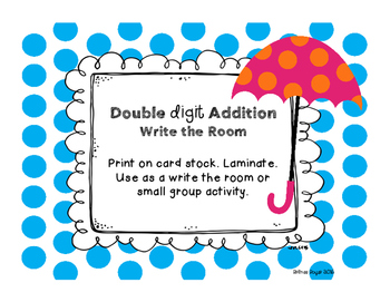 Double Digit Addition Write the Room
