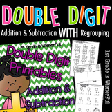 Double Digit Addition & Subtraction Printables W/ regroupi