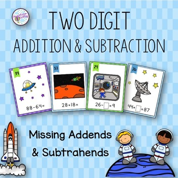 Two Digit Addition and Subtraction with Missing Addends and Subtrahends