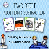 Two Digit Addition and Subtraction with Missing Addends an