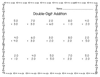 Double-Digit Addition and Subtraction