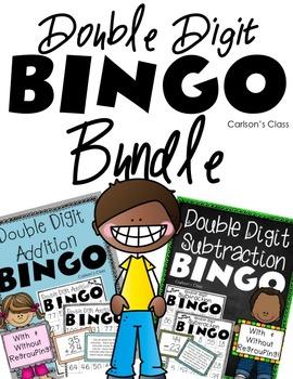 Double Digit Addition and Subtraction BINGO Bundle