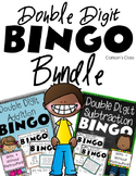 Double Digit Addition and Subtraction BINGO Bundle
