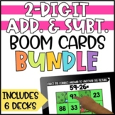 Double Digit Addition and Subtraction Boom Cards BUNDLE for 2nd Grade