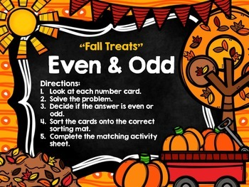 Double Digit Addition and Subtraction Fall Themed Math Centers (No Regrouping)