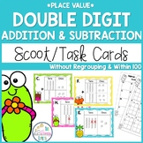Double Digit Addition and Subtraction No Regrouping Task Cards