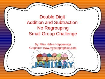 Double Digit Addition and Subtraction No Regrouping Trivia Game