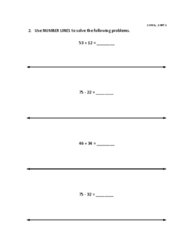 Double Digit Addition and Subtraction Packet - Use Various Strategies