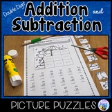Double Digit Addition and Subtraction Picture Puzzles