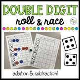 Double Digit Addition and Subtraction Roll and Race