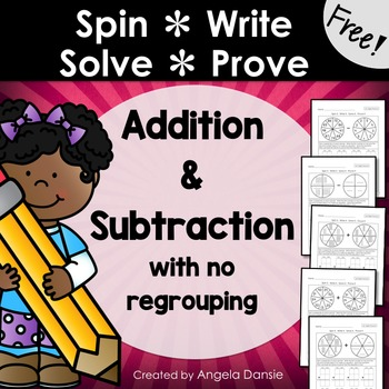 Double–Digit Addition and Subtraction Spin & Solve (FREE)