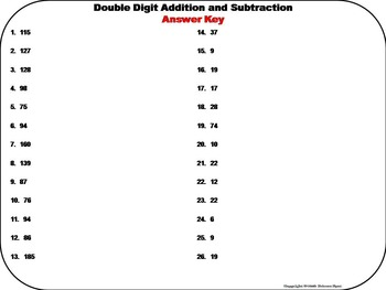 Double Digit Addition Task Cards/ Double Digit Subtraction Task Cards Activity
