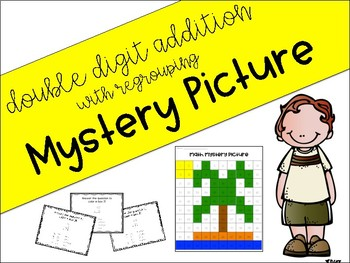 Double Digit Addition and Subtraction - With Regrouping - Mystery Picture