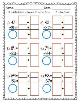 Introduction to Double Digit Addition and Subtraction with Expanded Form