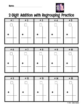 Double Digit Addition and Subtraction with Regrouping - 2