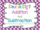 Double Digit Addition and Subtraction without Regrouping Center