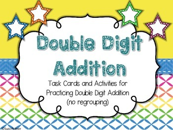 Double Digit Addition (no regrouping) Activities