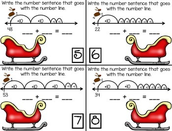Double-Digit Addition on an Open Number Line Roam the Room Activity