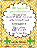 Double Digit Addition practice with QR code self checks
