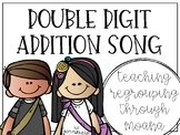 Double Digit Addition (regrouping) Song to Moana