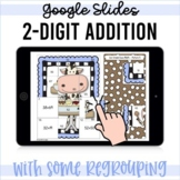 Double Digit Addition some Regrouping GOOGLE Classroom Dis
