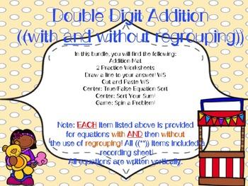 Double Digit Addition Bundle