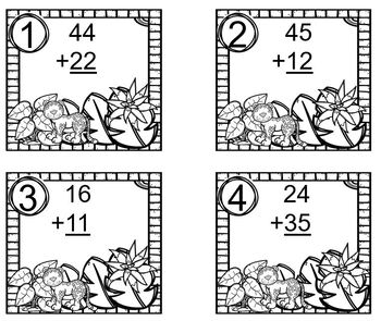 Double Digit Addition with No Regrouping Rain Forest Jaguar