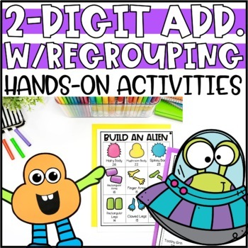 Double Digit Addition with Regrouping Activities & Hands-On Projects