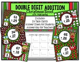 Double Digit Addition with Regrouping Christmas Scoot