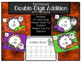 Double Digit Addition with Regrouping Halloween