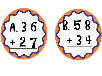 Double Digit Addition with Regrouping I-Spy